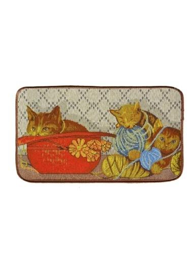 Giz Home Tapetto Paspas 50X150 Yumaklı Kedi Renkli